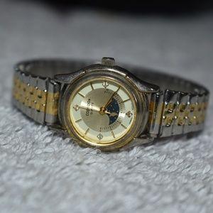Vintage 80s Capezio Moon Phase Quartz Watch